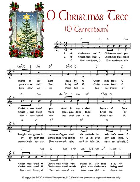 o christmas tree o tannenbaum christmas sheet music