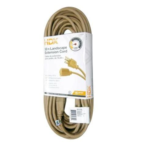 50 ft 16 3 landscape extension cord aw62662 the home depot
