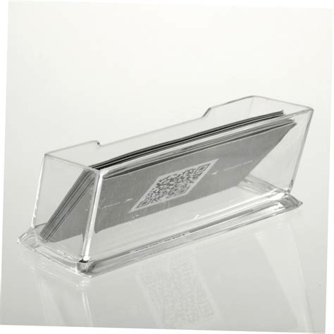 clear desktop business card holder display stand acrylic