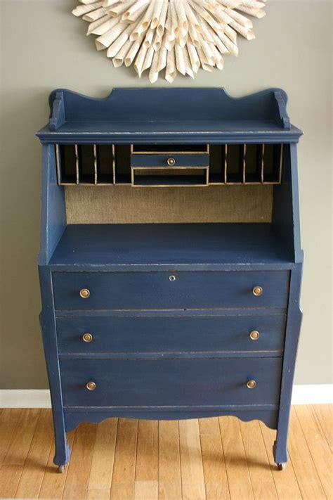 Blue Vintage Desk by For Elizabeth Navy Blue Antique Desk