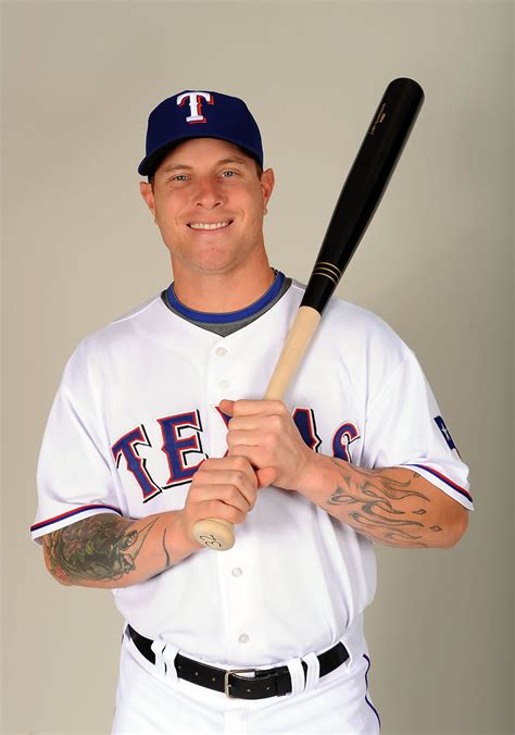 josh hamilton in texas rangers photo day zimbio