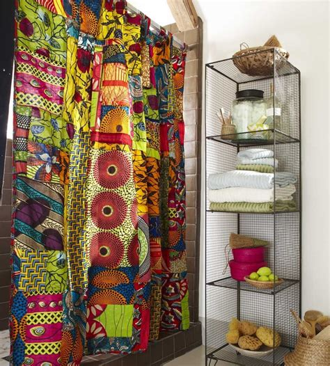 fair trade curtains african print shower curtain design pinterest