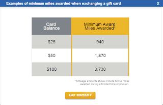 United Gift Cards For Miles - exchange gift cards for united miles quot deal quot chasing the points