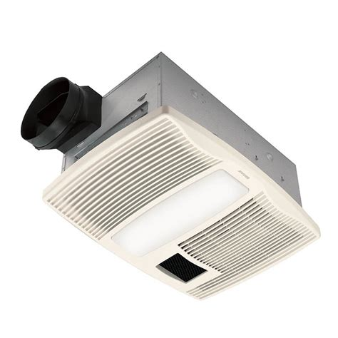 Bathroom Fan With Light And Heater Broan Qtx110hl Ultra Silent Series Bath Fan With Heater And Light Home Improvement