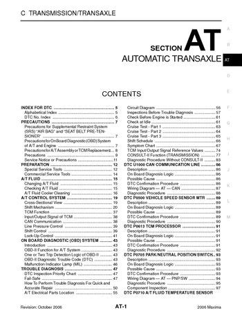 download car manuals pdf free 1994 nissan maxima interior lighting download 2006 nissan maxima automatic transmission section at pdf manual 320 pages