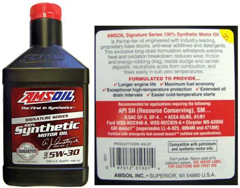 Amsoil Signature Series 5w30 Liter petroleum quality institute of america