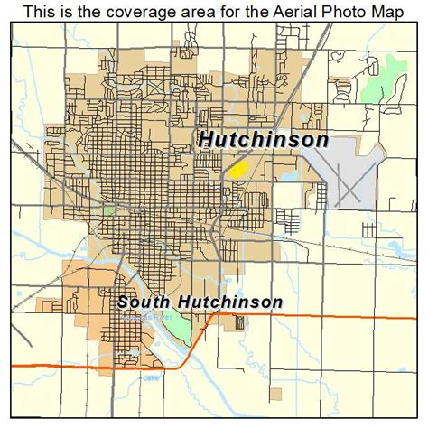 Hutchins Kansas Aerial Photography Map Of Hutchinson Ks Kansas