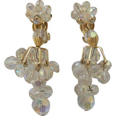 chagne chandelier earrings chandelier earrings from antiquelyourfancy on ruby