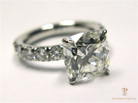 cushion cut engagement ring the setting