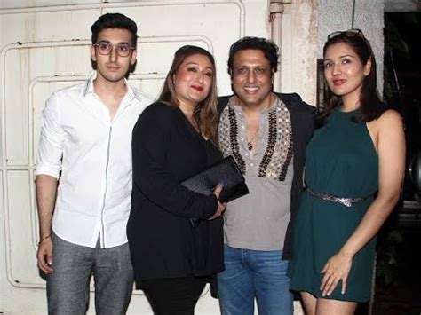 actor govinda parents indian actor govinda and his family youtube