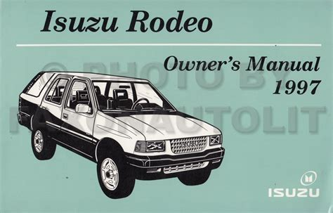 service manual 1997 isuzu rodeo owners manual 1997 isuzu rodeo honda passport repair shop