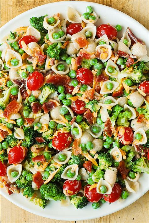 best pasta salad broccoli bacon ranch pasta salad
