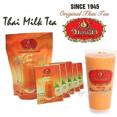 thai iced hot milk tea instant powder    original thai