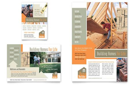 home builder online free home building carpentry flyer ad template design