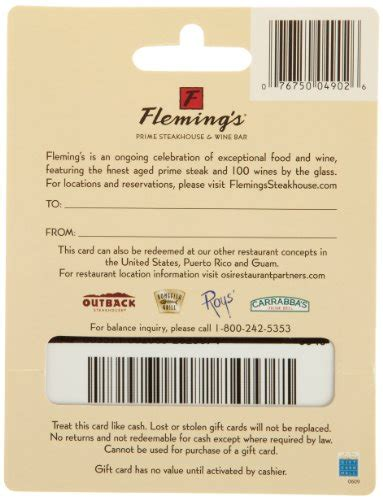 Fleming S Gift Card - fleming s gift card 100 shop giftcards