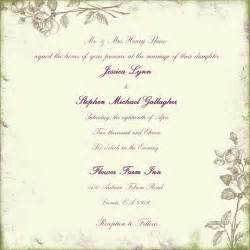 wedding invitation language dili s sle of wedding invitation