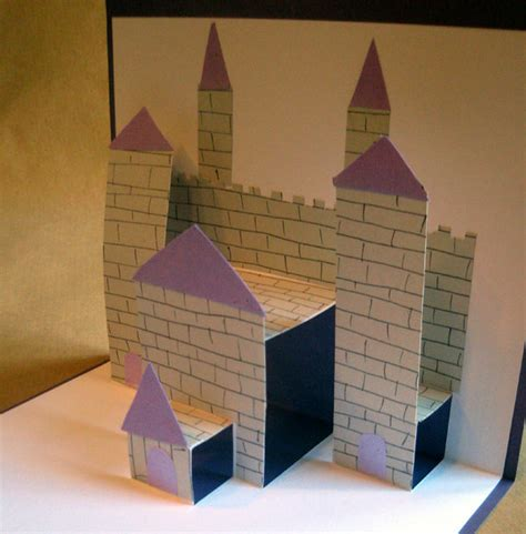 how to make a pop up castle card pop up castle card by philippajudith on deviantart