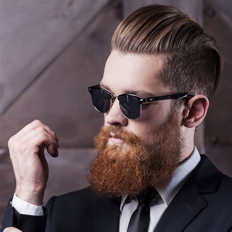 Slick Back Hair And Beard | coolest hairstyles with full beards 2016 men s