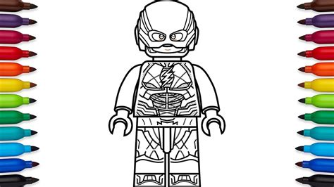 coloring pages lego flash how to draw lego the flash barry allen from dc comic s