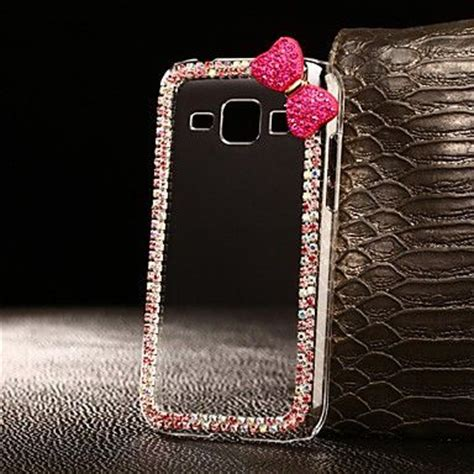 Metal Glitter Samsung Galaxy J1 Hardcasehardgliterblink2 exquisite bowknot with rhinestones for