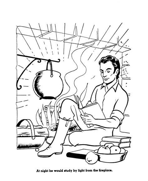 abraham lincoln coloring sheets coloring pages