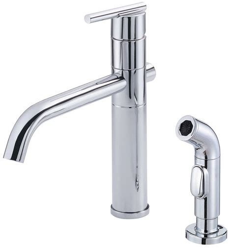 danze d400058 chrome kitchen faucet includes metal side