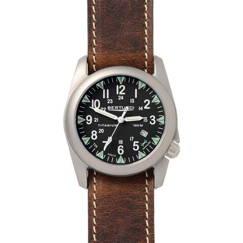 Swiss Army Doubleclock Lightbrown a 4t illuminated field brown leather band