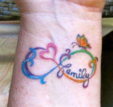 infinity family tattoo 40 famous family text amazing infinity tattoos golfian com