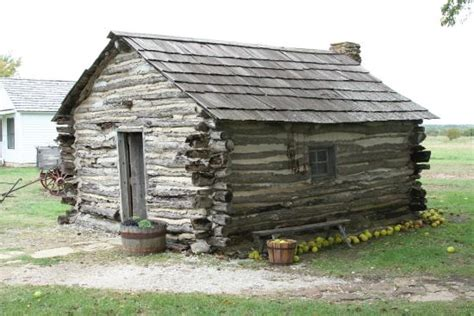 House On The Prarie by A Side View Of The Replica Log Cagin Picture Of House On The Prairie Museum