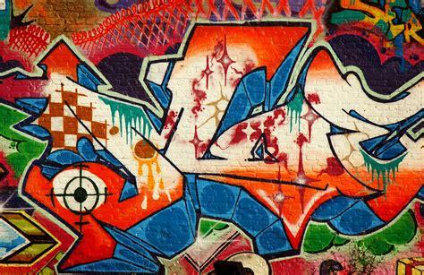 red white  blue graffiti wall mural muralswallpaper