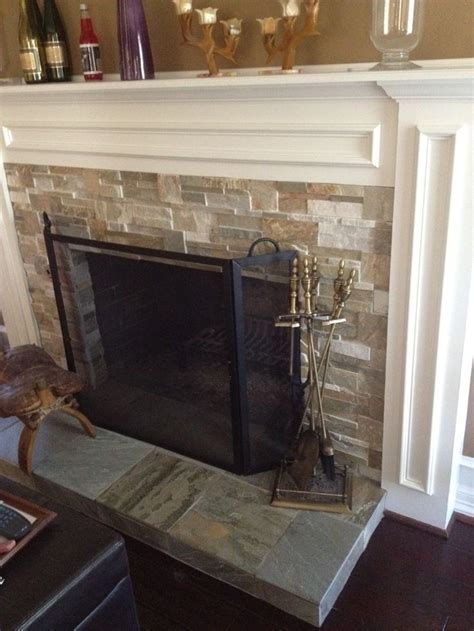 limestone tile fireplace 29 best images about fireplace ideas on slate
