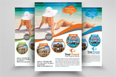 travel flyer template 43 free psd ai vector eps