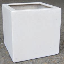 White Square Planter Pots by Polystone And Fibre Pots Planters And Troughs Black Or White Buy Uk