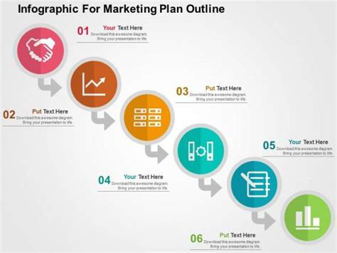 Marketing Powerpoint Presentations Infographic For Marketing Plan Outline Powerpoint Template Powerpoint Advertising Templates