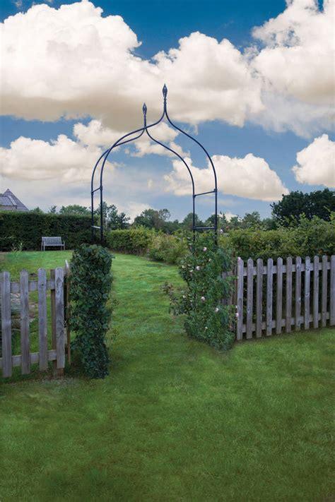 Garden Arch Metal Black Black Metal Garden Arch York By Garden Selections