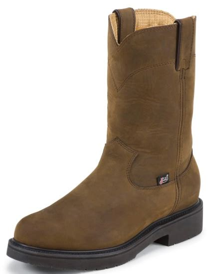 justin double comfort boots justin 4466 men s double comfort collection work boot with
