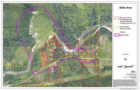 seattle landslide map parcel map of the slide area being searched the today