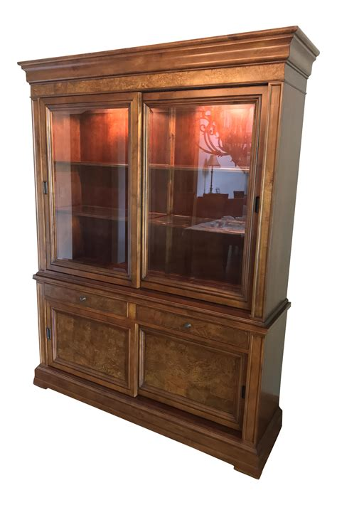 ethan allen china cabinet ethan allen china display cabinet chairish