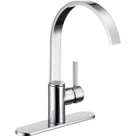 homedepot kitchen faucet delta mandolin single handle standard kitchen faucet in chrome 26602lf the home depot