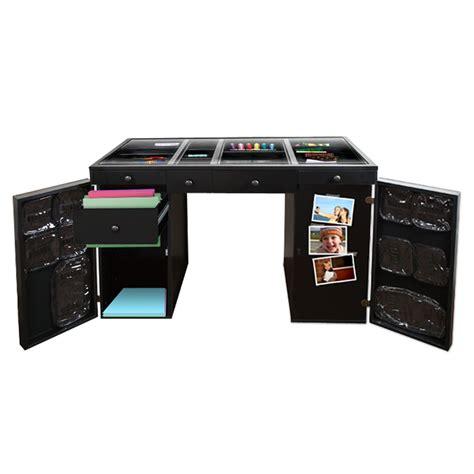 original scrapbox ez view black craft desk base 4 1 ebay
