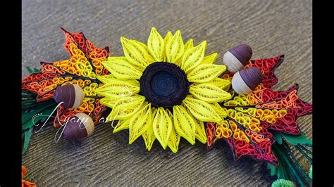 quilling sunflower tutorial quilling tutorial sunflower fall wreath part 3 of 6
