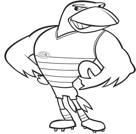 438 Best Adelaide Crows Images On Pinterest Crows Afl Coloring Pages