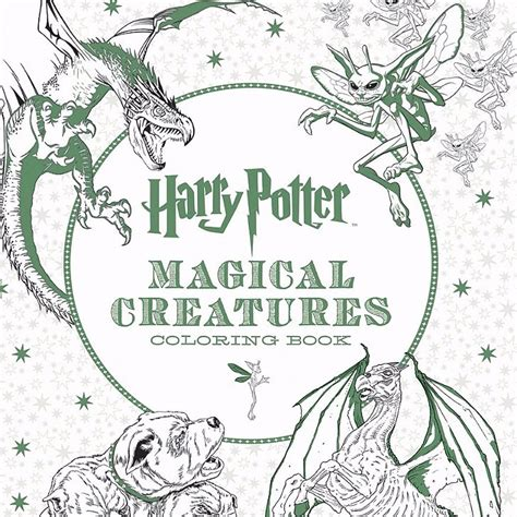 harry potter jumbo coloring book harry potter magical creatures coloring book popsugar tech