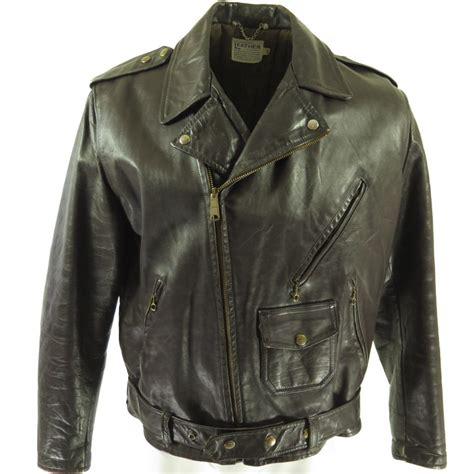 retro motorcycle jacket vintage 50s motorcycle biker leather jacket mens 46 brown