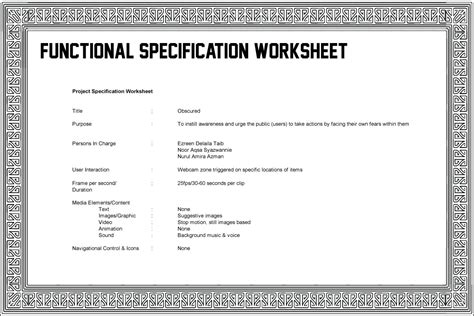 functional specification template indefinite ideas functional specification worksheet