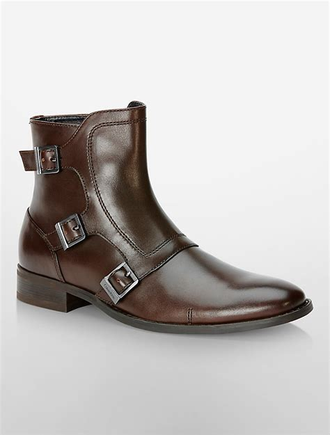 monk boots mens calvin klein mens stark monk boot shoe ebay