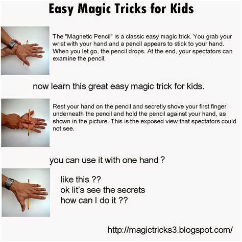 how to your to do tricks magic tricks easy magic tricks for magnetic pencil