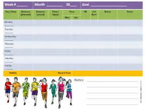 running calendar template running log
