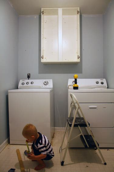 How To Install Cabinets In Laundry Room Installing Cabinets In A Laundry Room