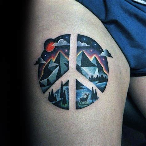 peace tattoo for men 70 peace sign tattoos for symbolic ink design ideas